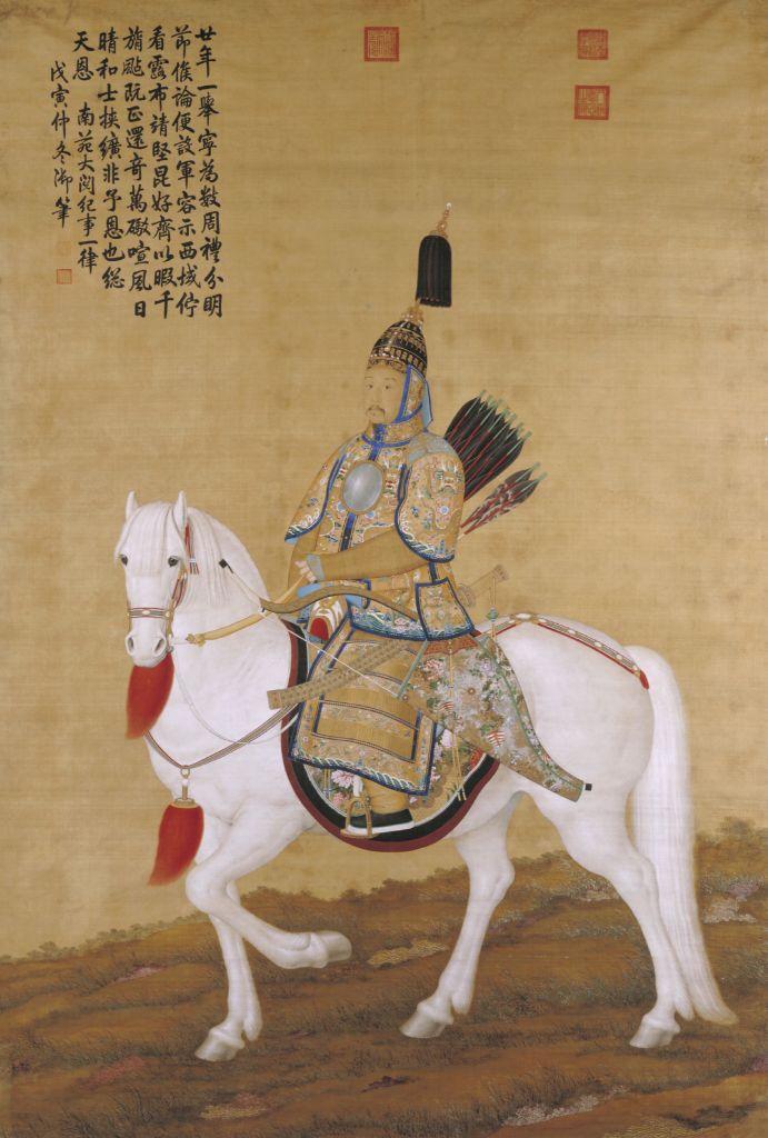 新闻资讯app_郎世宁乾隆皇帝大阅图轴 - 故宫博物院